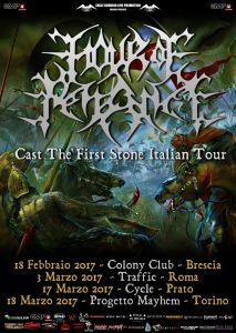 HOUR OF PENANCE: cambio data per lo show di Roma e confermata la location di Torino